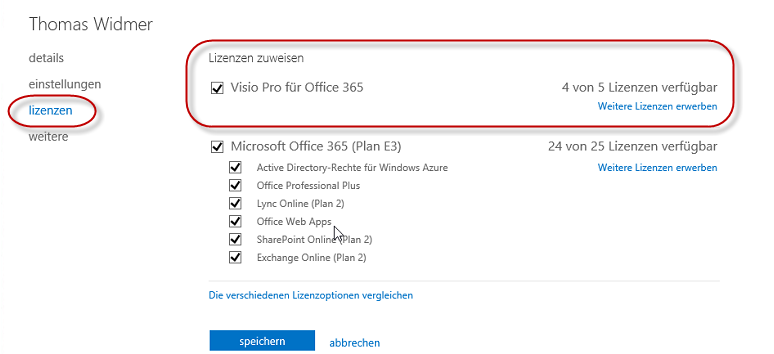 Office 365 Lizenzierung und Installation Visio oder Project