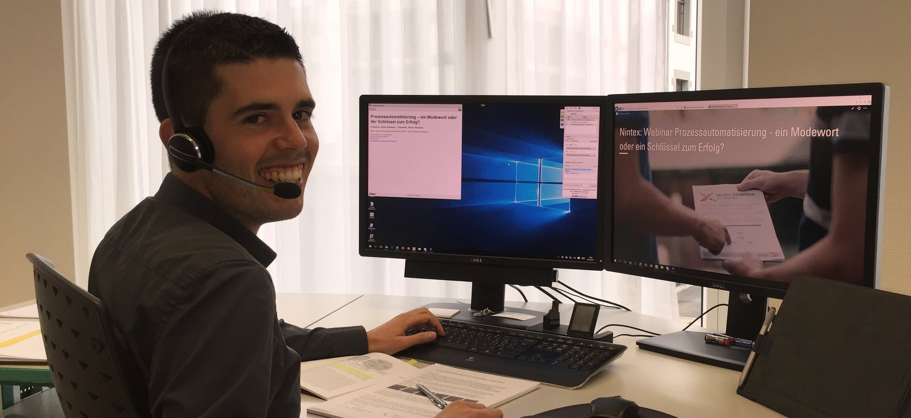 Raphael Bachmann beim Webinar