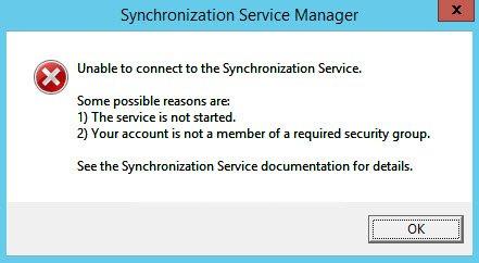 Azure AD Sync Fail