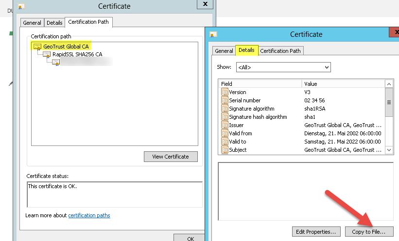 Eventlog SSL-Zertifikatsfehler NotTimeValid | IOZ Blog